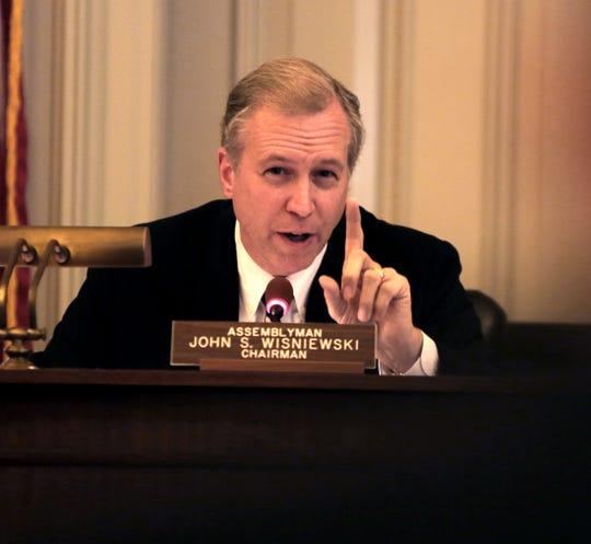 Nov. 25, 2013: Assembly Transportation Committee Chairman John Wisniewski questions Port Authority Executive Director Bill Baroni