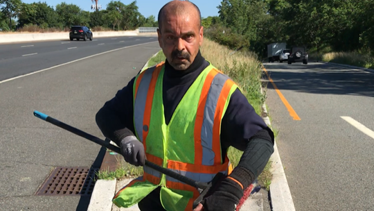 Paterson's Benny Gonzalez, who has spent 25 years cleaning up Routes 19 and 80.