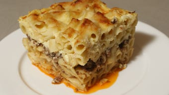 Maria Bojekian, of Franklin Lakes, talks about the family Pastitsio they have on all holidays.