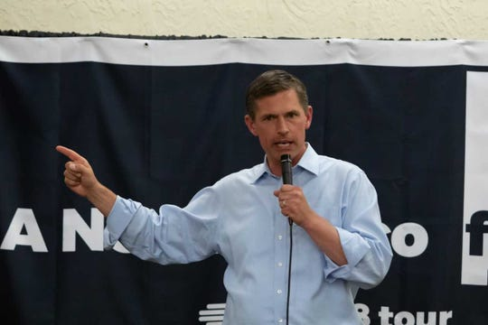 U.S. Sen. Martin Heinrich, D-N.M., and candidate for re-election, campaigned in Las Cruces on Saturday, Nov. 3, 2018, days before Election Day.