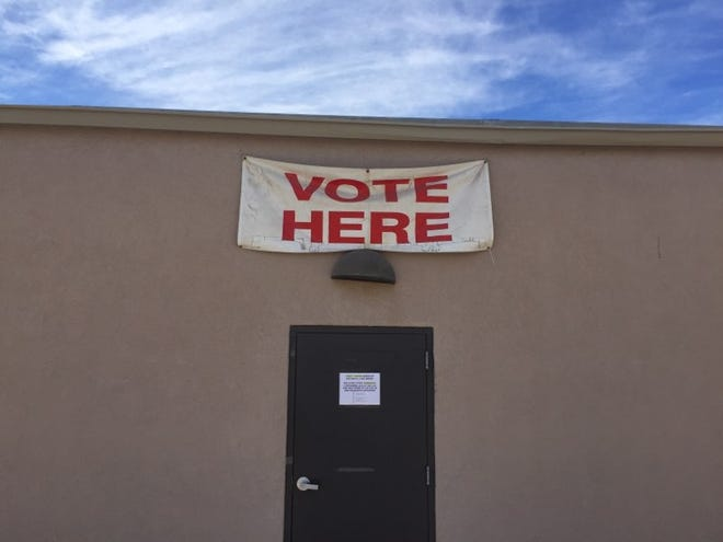 The Eddy County Clerk's Office in Carlsbad reminds voters where to stop by on Election Day.