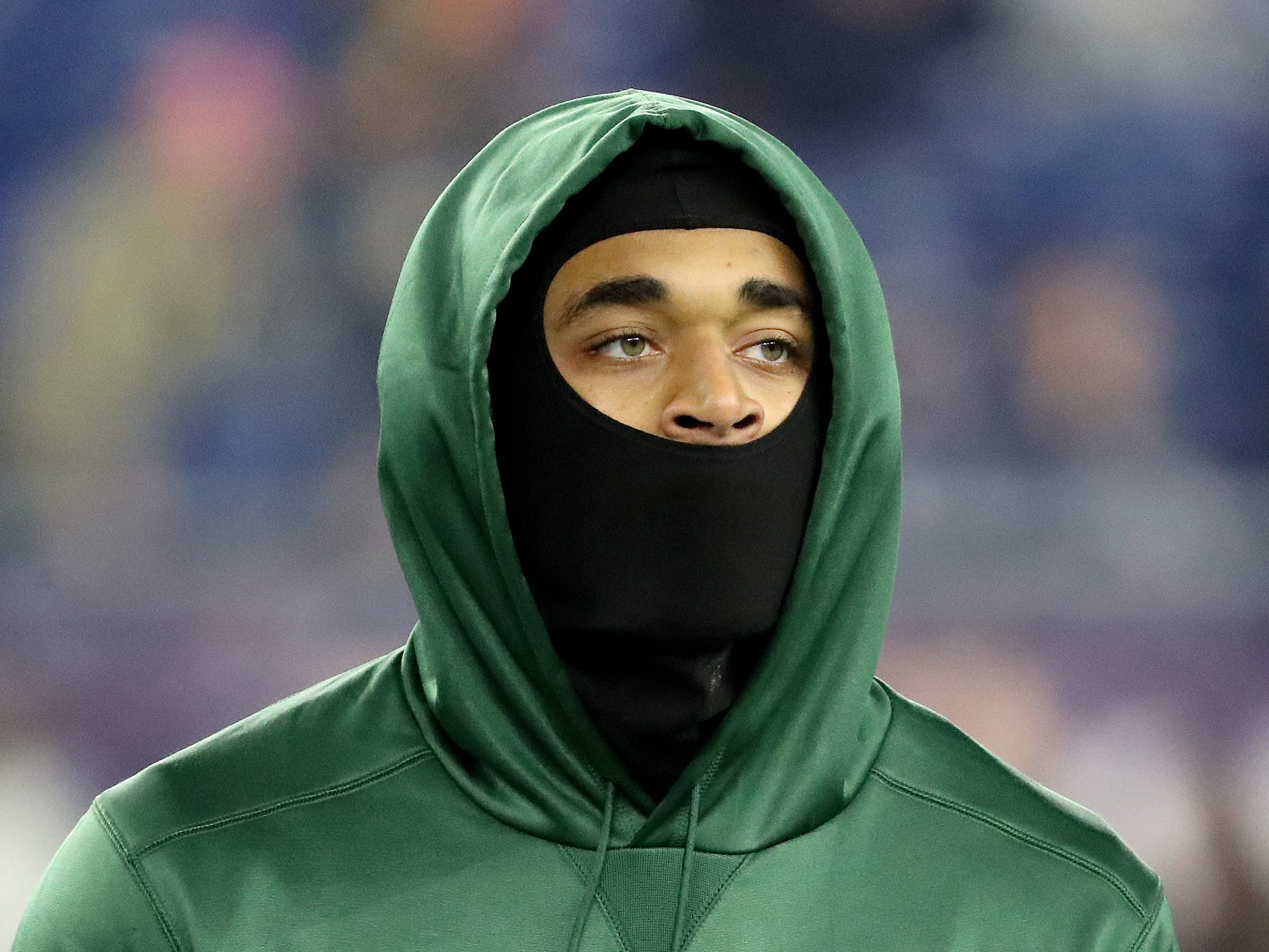 Green Bay Packers cornerback Jaire Alexander (23) walks the field before the game against the New England Patriots Sunday, November 4, 2018 at Gillette Stadium in Foxborough, Mass.