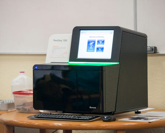 A $50,000 DNA sequencer machine was temporarily donated to Milton High for a three-day workshop that will culminate in the DNA sequencing of the endangered Florida panther.