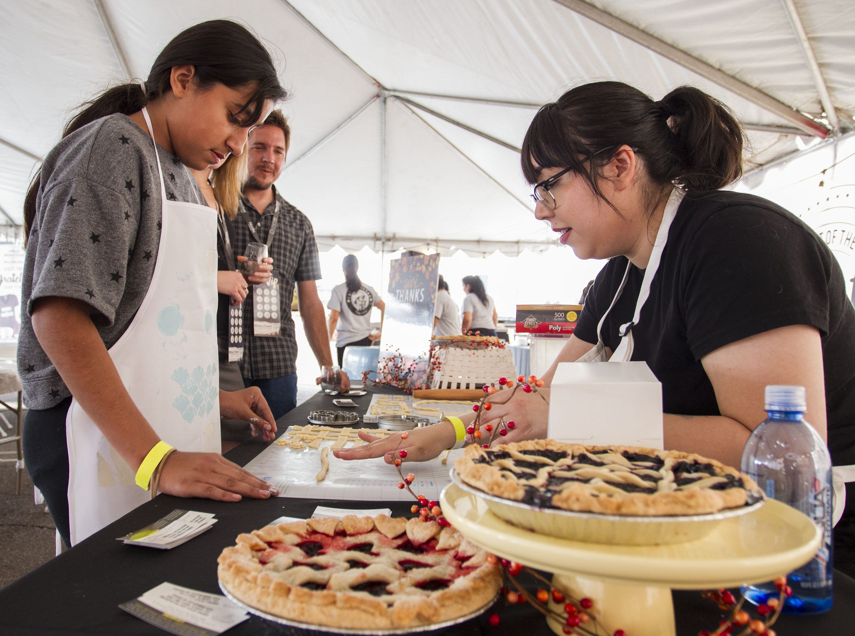 Cooking enthusiasts learn how to roll dough during the azcentral Wine & Food Experience at WestWorld of Scottsdale, Sunday, Nov. 4, 2018.