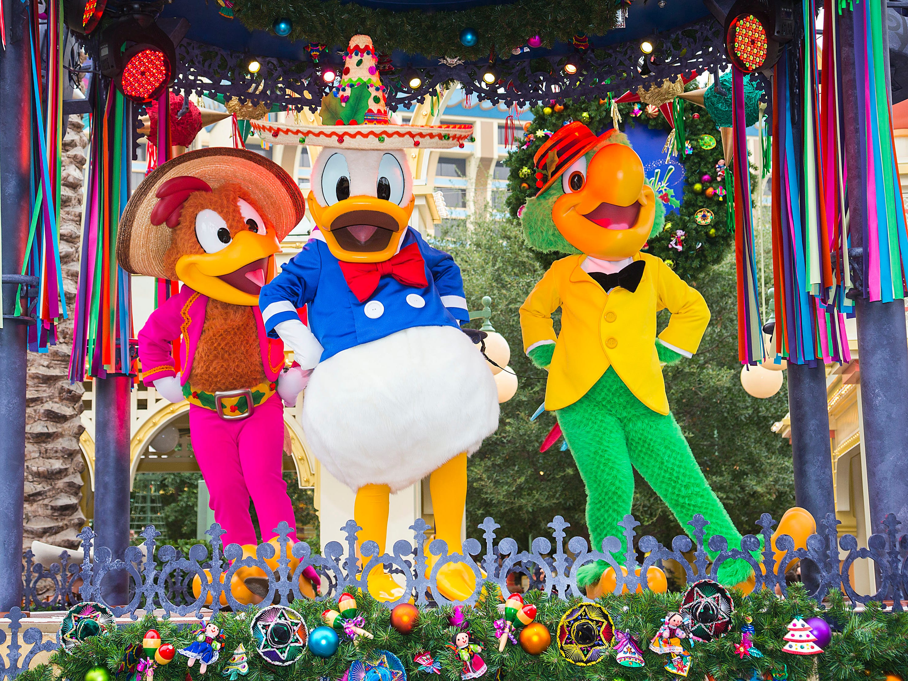 Disney ¡Viva Navidad! at Disney California Adventure Park is a jolly celebration of friendship and culture, featuring authentic mariachi and samba musicians, folklórico dancers, and Disney characters alike. Guests may enjoy the lively Disney ¡Viva Navidad! street party from Nov. 9, 2018, through Jan. 8 2019.