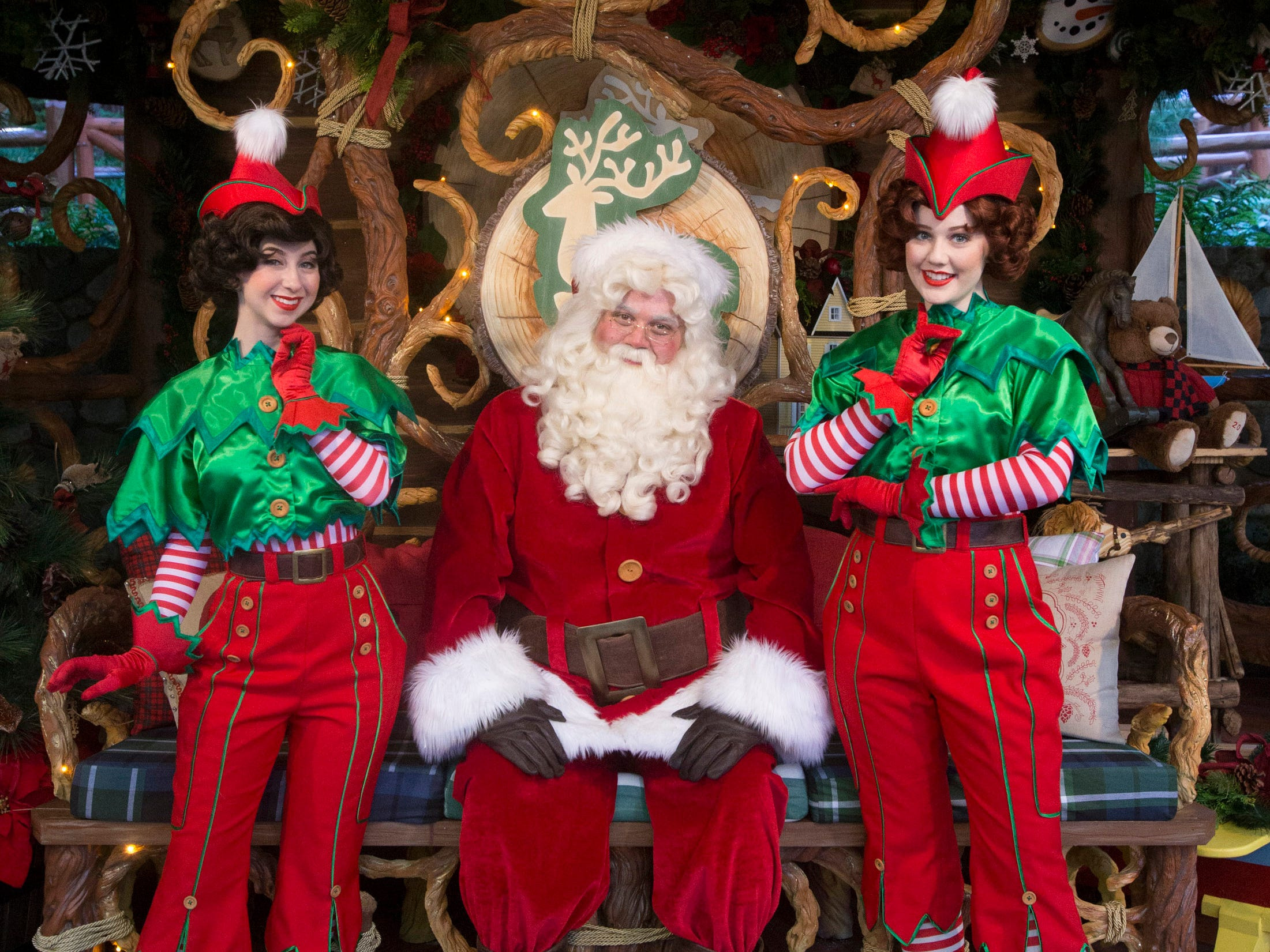 "Santa is featured in ""A Christmas Fantasy"" Parade, performed daily at Disneyland."