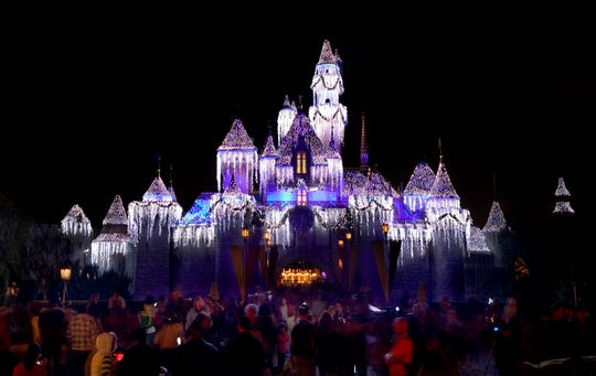 "Sleeping Beauty Castle is a centerpiece of Holidays at the Disneyland Resort, running Nov. 9, 2018 through Jan.6, 2019. The celebration includes the ""Believe … in Holiday Magic"" fireworks spectacular."