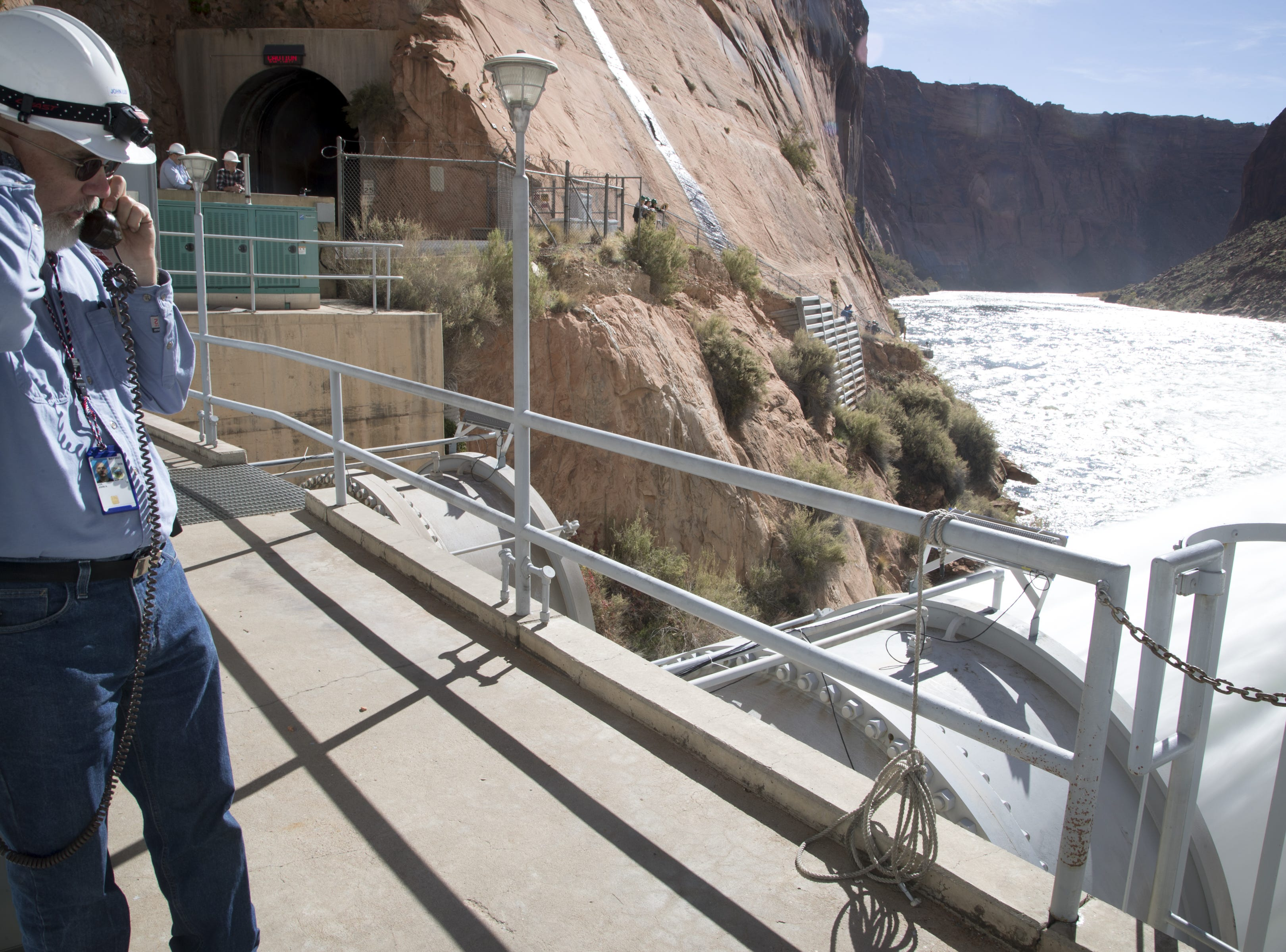 John Lux, a control room operator, opened the bypass tubes at Glen Canyon Dam on Nov. 5, 2018, during a high-flow experiment.