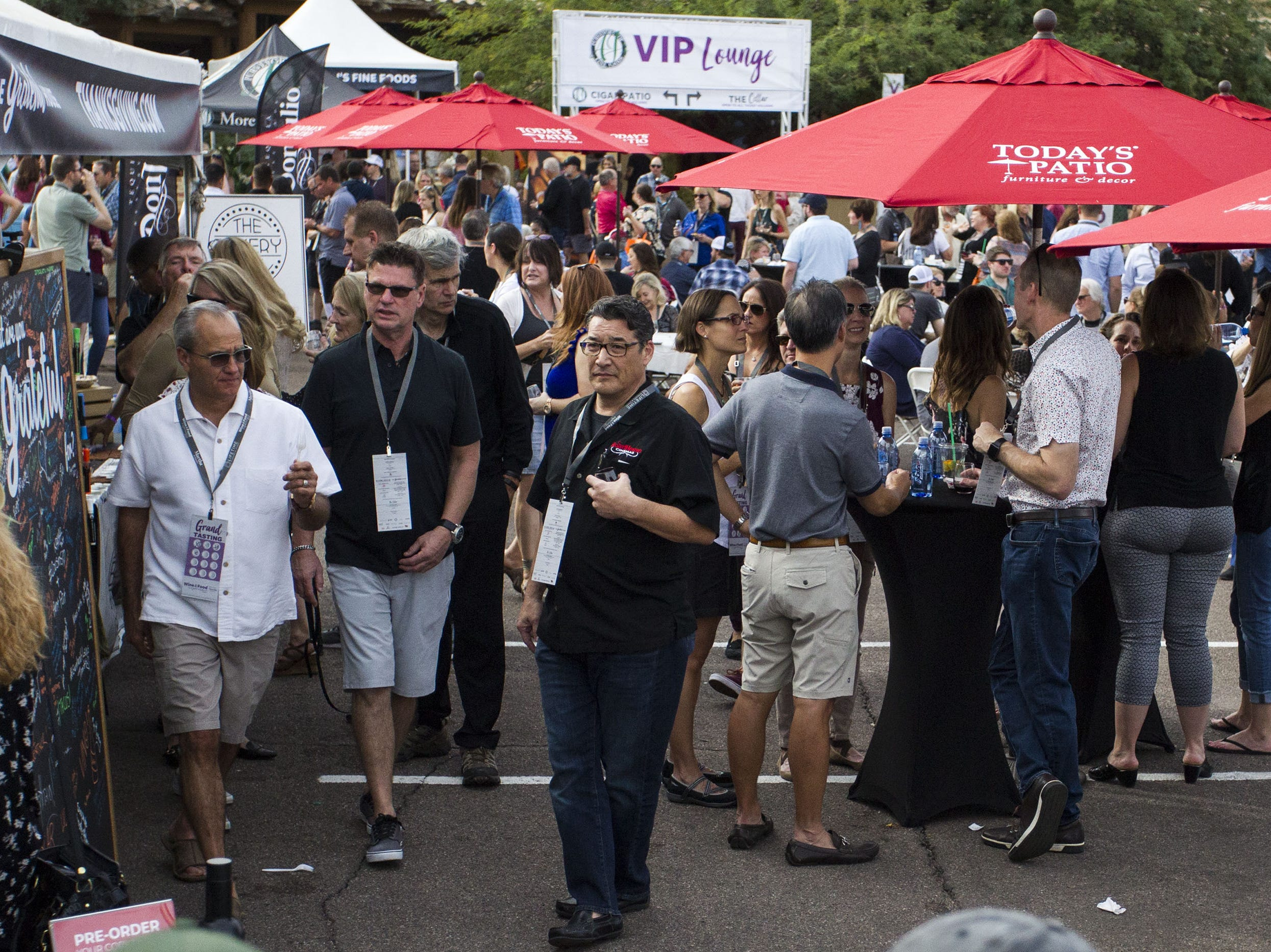 Fans enjoy the festivities during the azcentral Wine & Food Experience at WestWorld of Scottsdale, Sunday, Nov. 4, 2018.
