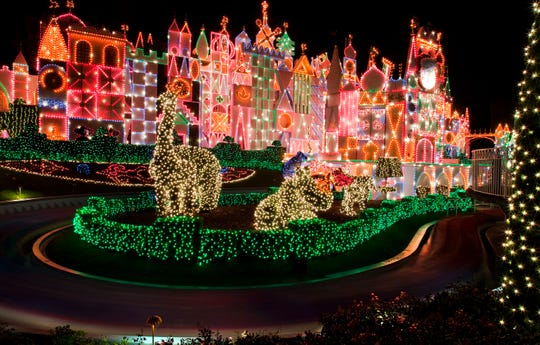 It's a Small World comes alive with 50,000 lights as Disneyland celebrates the holidays Nov. 9, 2018 through Jan. 6, 2019.