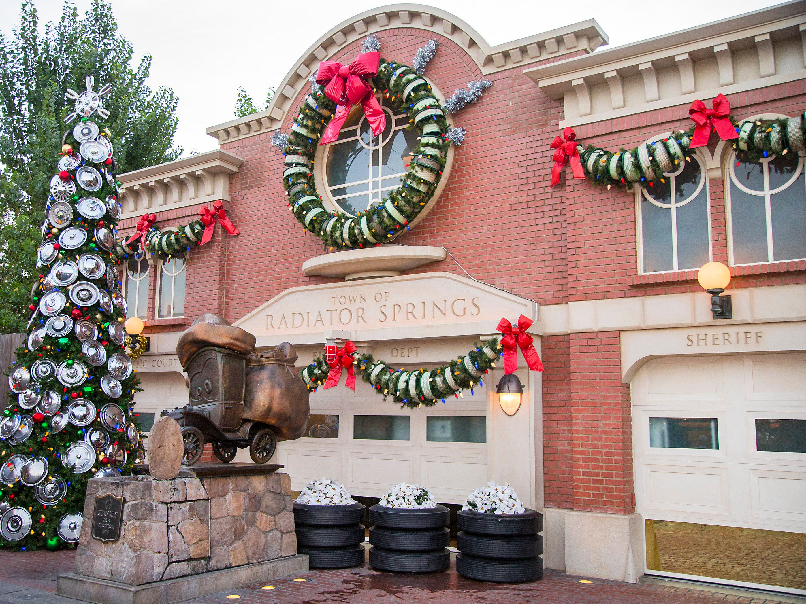 "Lightning McQueen and the residents of Radiator Springs are set to ""deck the halls"" this holiday season at Cars Land in Disney California Adventure park with festive decorations down Route 66. Holidays at the Disneyland Resort return Nov. 9, 2018 through Jan. 6, 2019."