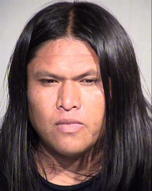 Jaron Yazzie, 30, was arrested and charged with obstruction, disorderly conduct and aggravated assault.
