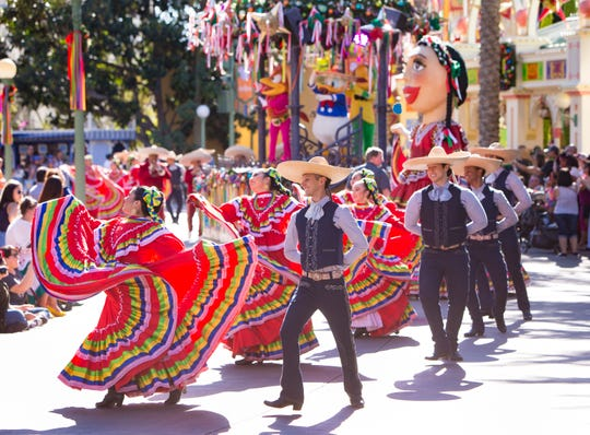 Disney ¡Viva Navidad! at Disney California Adventure Park is a joyous celebration of friendship and culture, featuring authentic mariachi and samba musicians, folklórico dancers, and Disney characters alike.