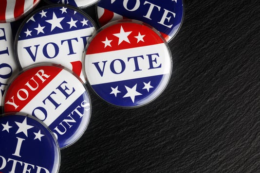 Red White And Blue Vote Buttons Background