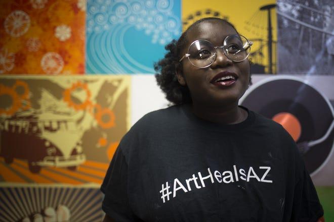 A portrait of Niya Davis, Oct. 30, 2018, at Free Arts, 352 E. Camelback Road, Phoenix.