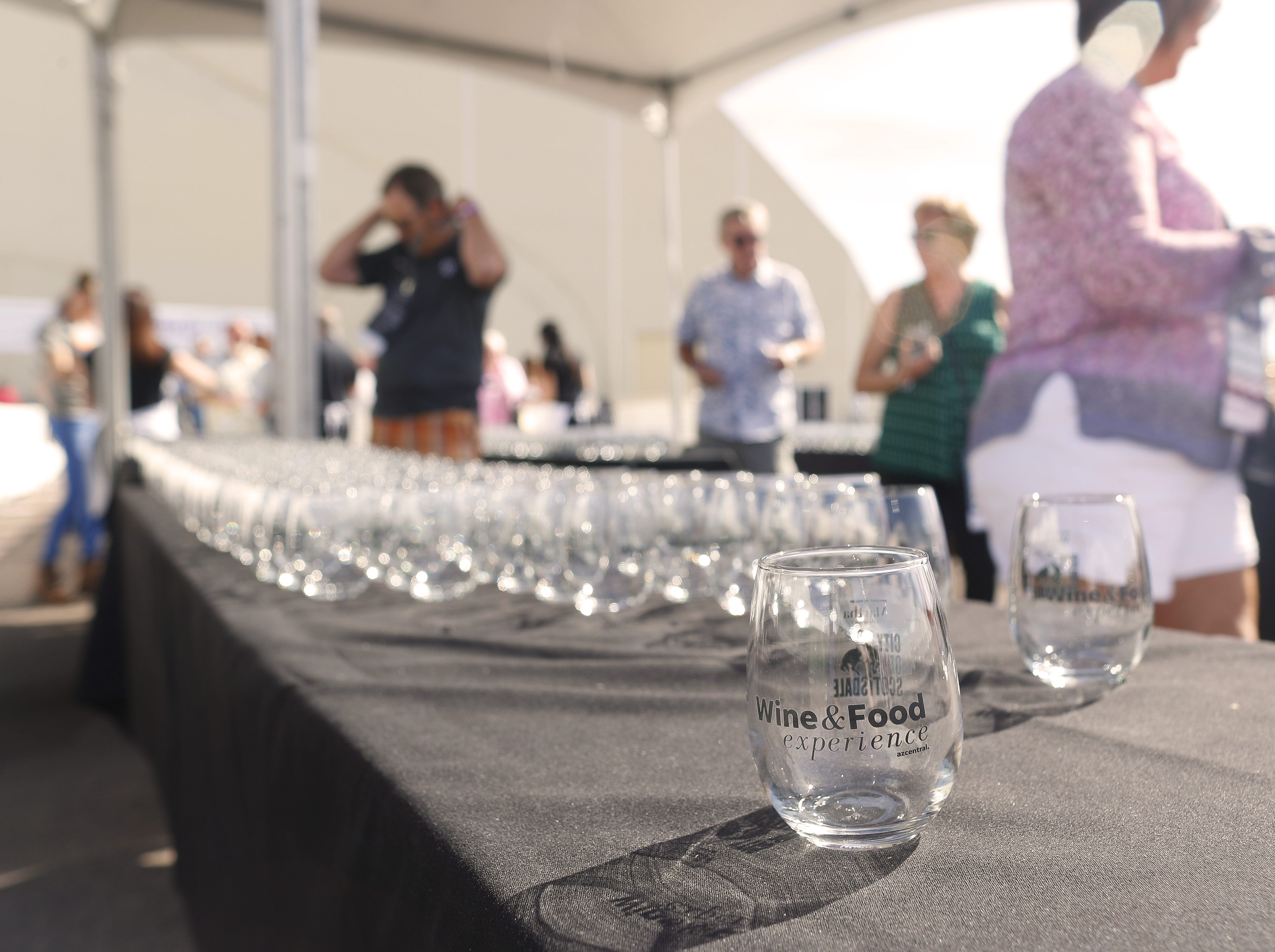 People arrive during the azcentral Wine & Food Experience at WestWorld of Scottsdale, Ariz. on Nov. 4, 2018.