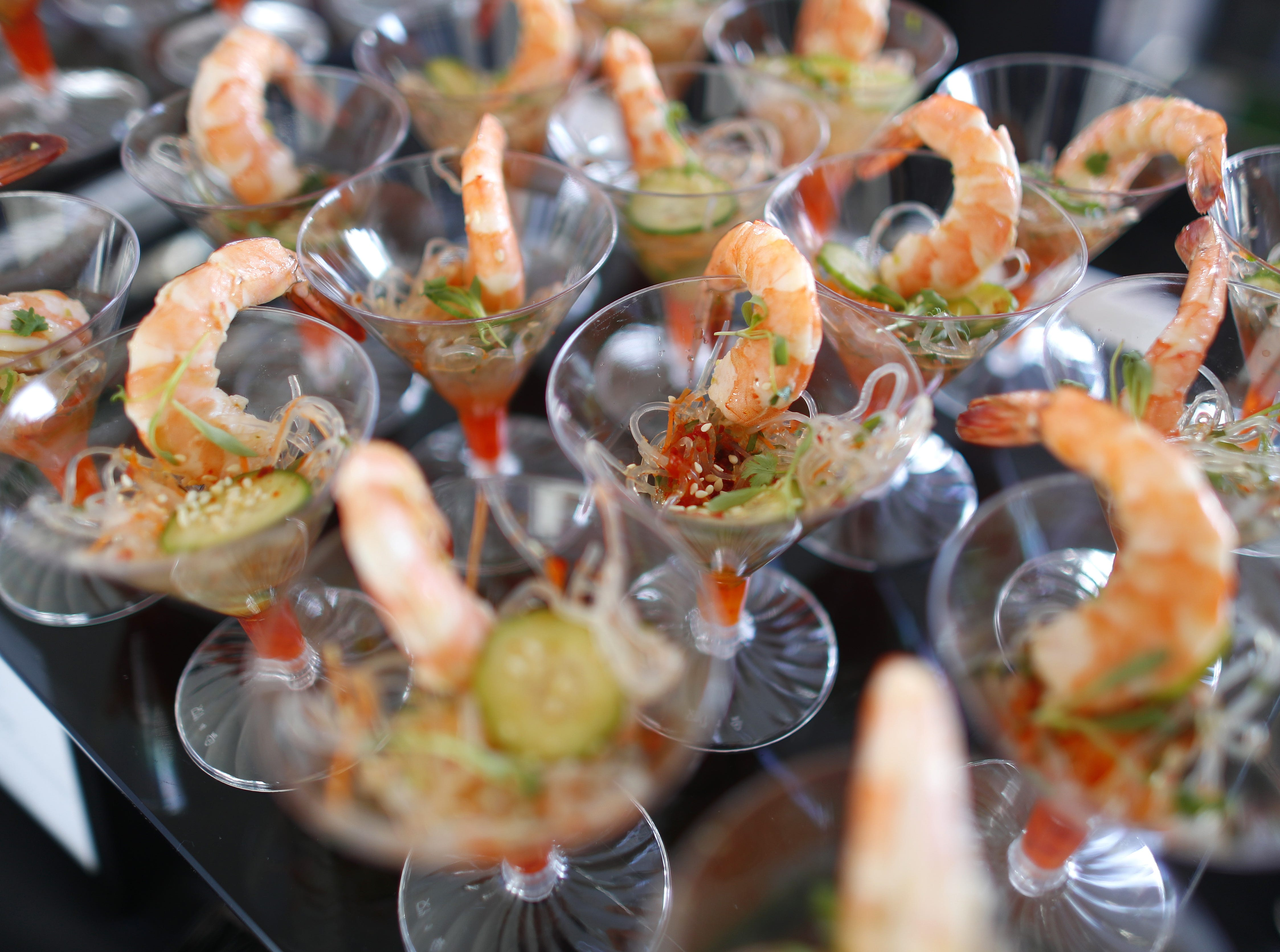 Wild shrimp ceviche from J&G Steakhouse at the Phoenician during the azcentral Wine & Food Experience at WestWorld of Scottsdale, Ariz. on Nov. 4, 2018.