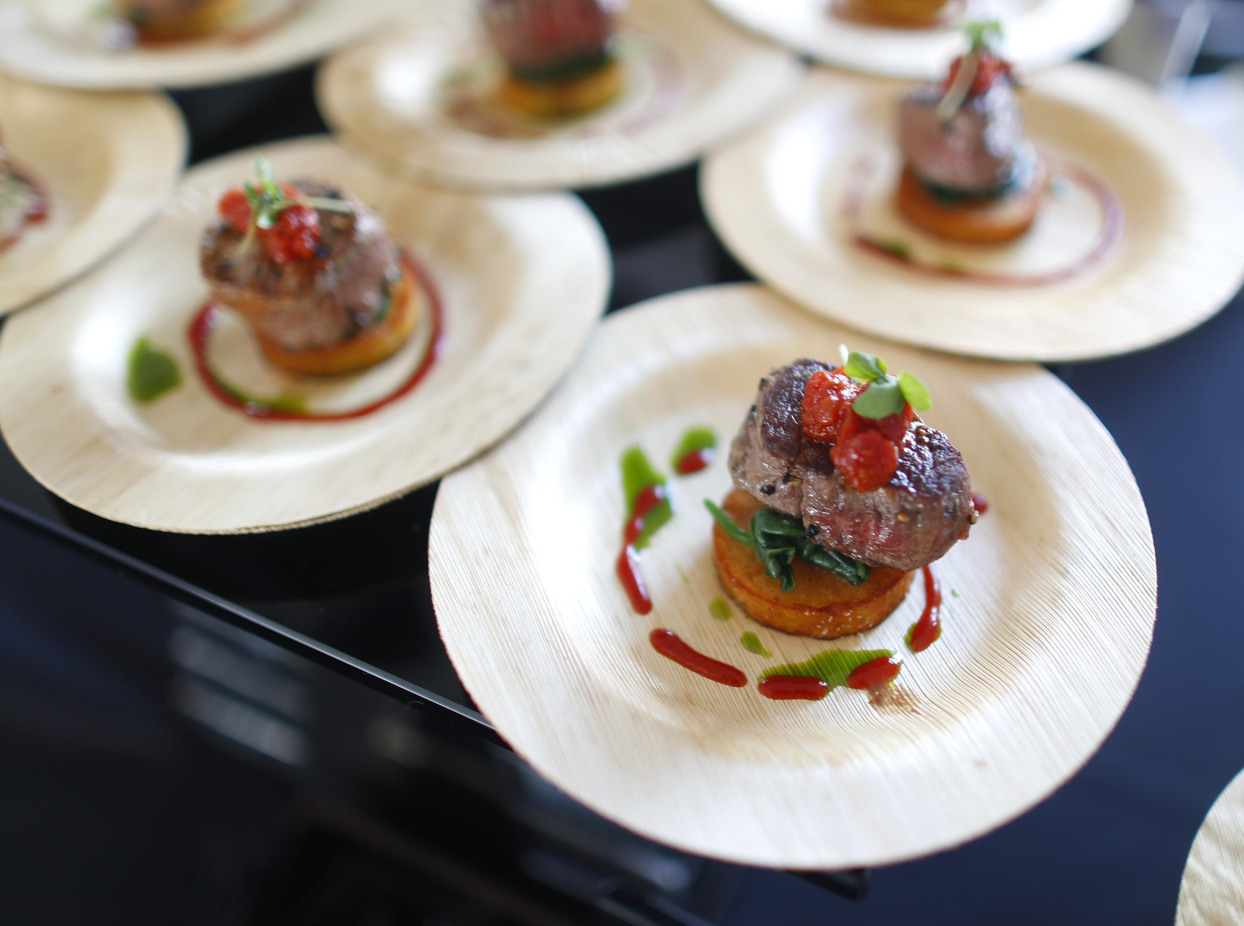 Seared beef tenderloin from J&G Steakhouse at the Phoenician during the azcentral Wine & Food Experience at WestWorld of Scottsdale, Ariz. on Nov. 4, 2018.
