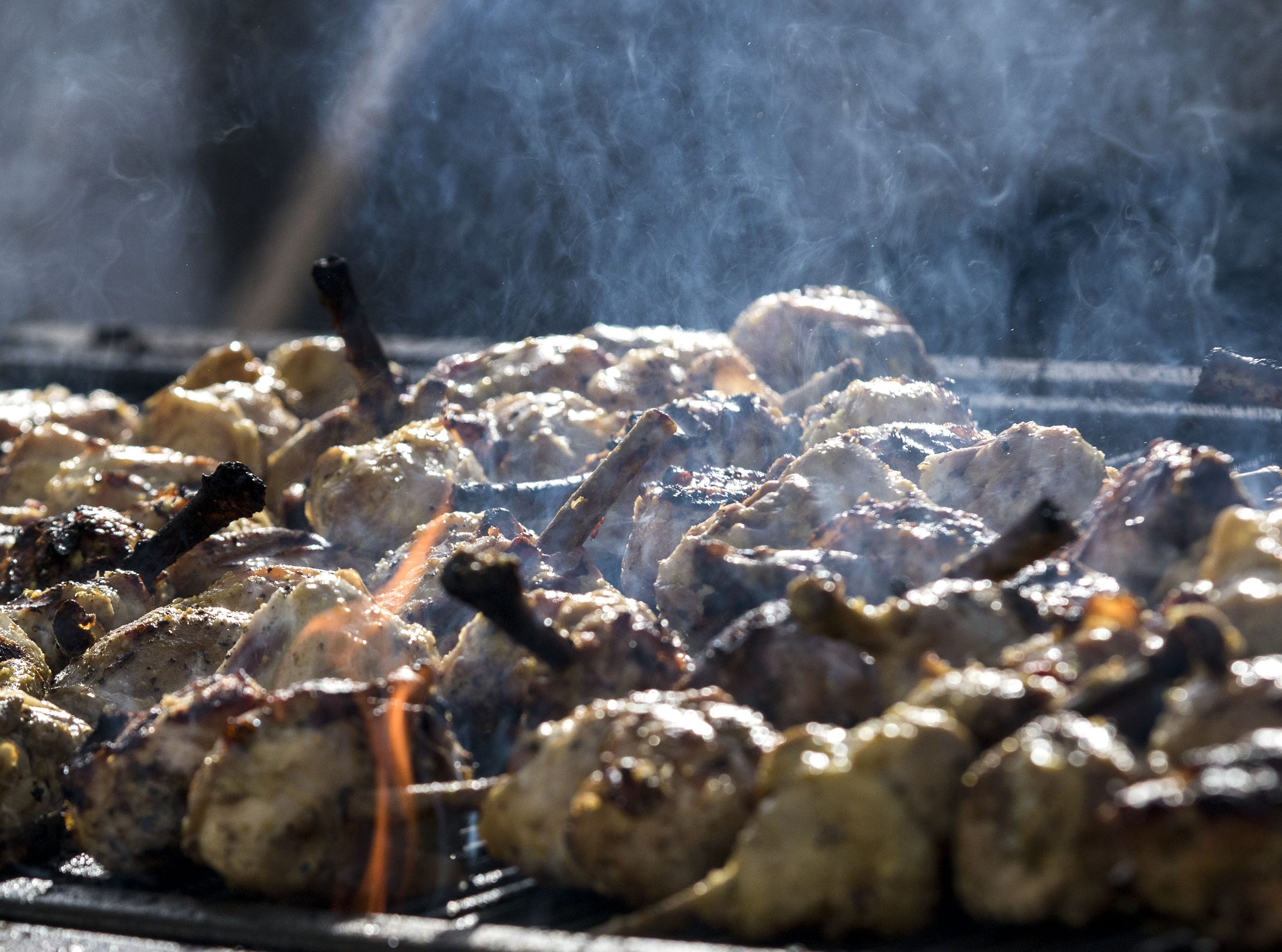 Behind the scenes chicken gets cooked up during the azcentral Wine & Food Experience at WestWorld of Scottsdale, Sunday, Nov. 4, 2018.