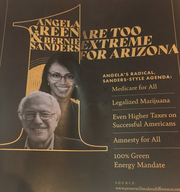 In the final days before the election, the Arizona Republican Party sent mailers to some Democrats tying the Angela Green, the Arizona Green Party candidate for U.S. Senate, to Sen. Bernie Sanders, I-Vt.