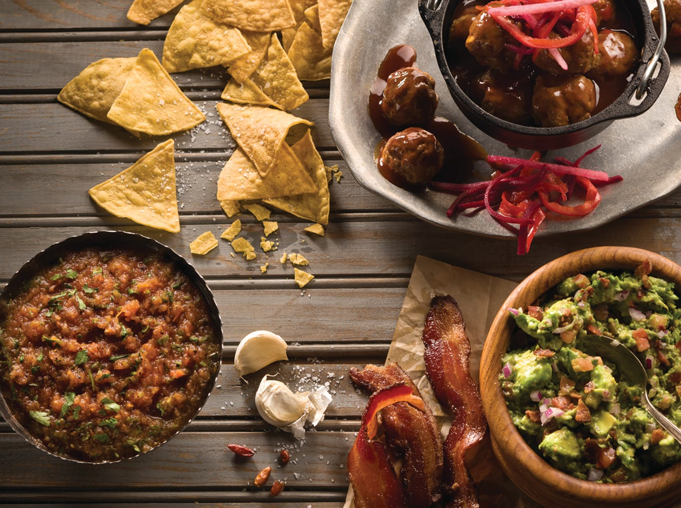 Taco Guild | Nov. 11-12, dine in and get a $25 gift card toward a future meal. Through November, all guests who bring in new items for care packages can redeem a card for a free appetizer on a return visit. | Details: 546 E. Osborn Road, Phoenix. 602-264-4143, tacoguild.com.