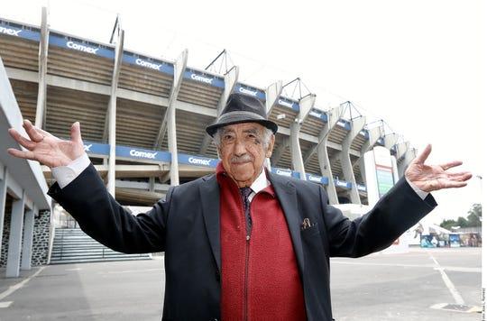 Melquiades Sánchez Orozco fue la voz del Estadio Azteca por más de 50 años.
