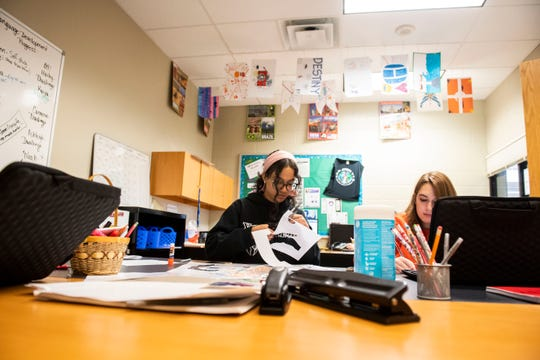 Students in the International Baccalaureate class work on different projects, Wednesday, Oct. 24, 2018. York Tech is the second school in the county to offer the IB program to students.