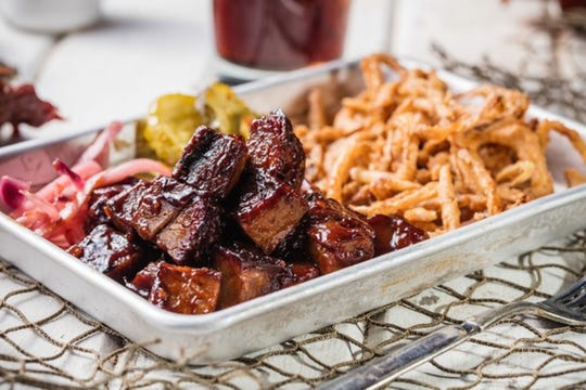Reno Rodeo Foundation is serving beef brisket burnt ends, a Famous Dave's BBQ signature dish, at Fantasies in Chocolate 2018.
