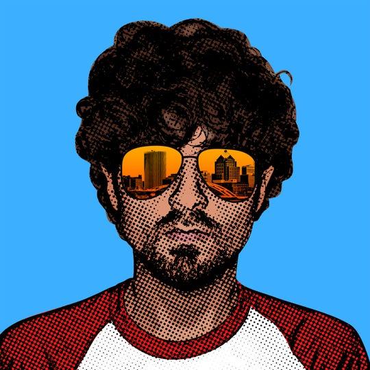 A self-portrait by Mike Dellaria.
