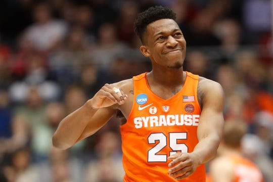 Guard Tyus Battle opted to forgo the NBA draft and return for his junior season at Syracuse.