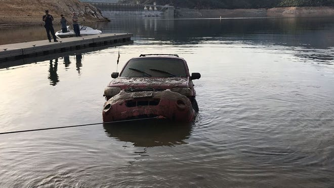 A sport utility vehicle stolen in 2016 was retrieved Sunday from the waters of Lake Shasta