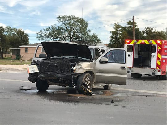 A Cadillac Escalade sustained heavy damage after colliding with another vehicle at Martin Luther King Drive and W. 23 St. The driver was taken to the hospital by ambulance on Nov. 5.