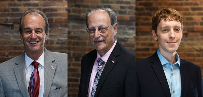Candidates for Wicomico County executive are, from left, incumbent Bob Culver, Jack Heath and John Hamilton.