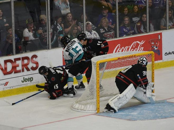 Jay Feiwell will serve a two-game suspension following a cross-check in Amarillo on Saturday.