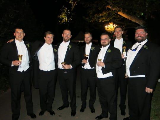 Wedding party members included: Justin Palatini, Andrew Seay, Dan Swanson, Drew Davis, John Joyce, Josh Snyder, Jon Sochovka.
