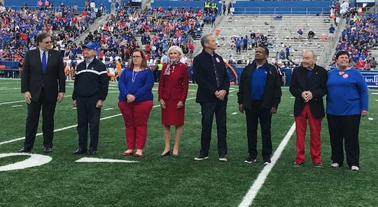 Bossier City Mayor Lo Walker, second from left, was honored as the Louisiana Tech 2018 Alumnus of the Year.
