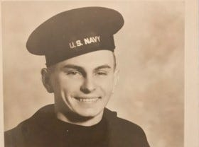 Bob Lyons, in an undated photo when he was in the U.S. Navy.