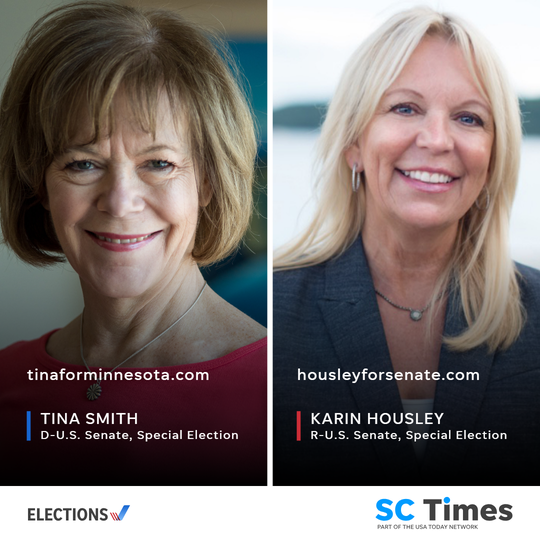 Tina Smith and Karin Housley face off in Minnesota's special U.S. Senate race.