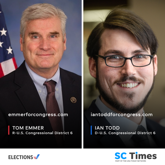Republican Tom Emmer and Democrat Ian Todd will be on the Nov. 6 ballot to become District 6's next congressman.