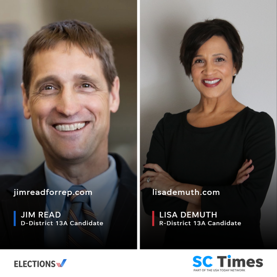Democrat Jim Read and Republican Lisa Demuth will be on the ballot for the open House District 13A seat.