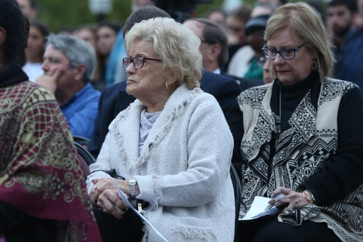 Hundreds of people attended a vigil held at Florida State University in honor of the two lives that were lost on the night of the shooting at Hot Yoga Tallahassee, on Nov. 4, 2018.