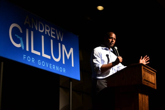 Floirida Democratic gubernational candidate Andrew Gillum made one of his final campaign stops in Crawfordville on Monday, meeting with supporters the day before the Election.