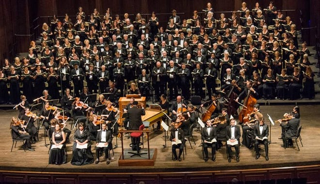 The Tallahassee Community Chorus during An Evening of Bach on April 30, 2017. The Chorus returns to the music of both Bach and Handel during Sunday afternoon's concert.