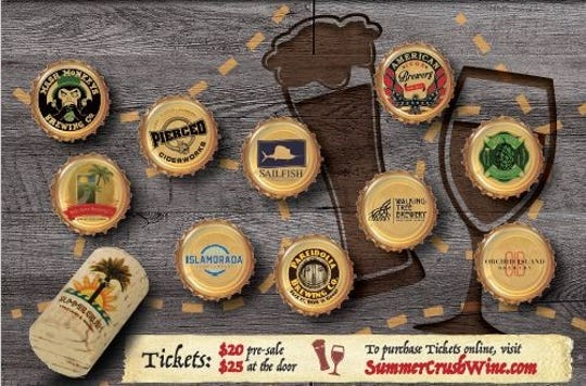 Locals and visitors will enjoy locally made craft beer, wine and cider at the 2018 Inaugural Treasure Coast Wine & Ale Trail Festival on Saturday, Nov. 17,  at Summer Crush Vineyard & Winery, 4200 Johnston Rd., Fort Pierce.