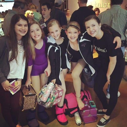 From left: Charlotte, Emma, Kaleigh, Jillian, Eliza at StarStruck in 2014.