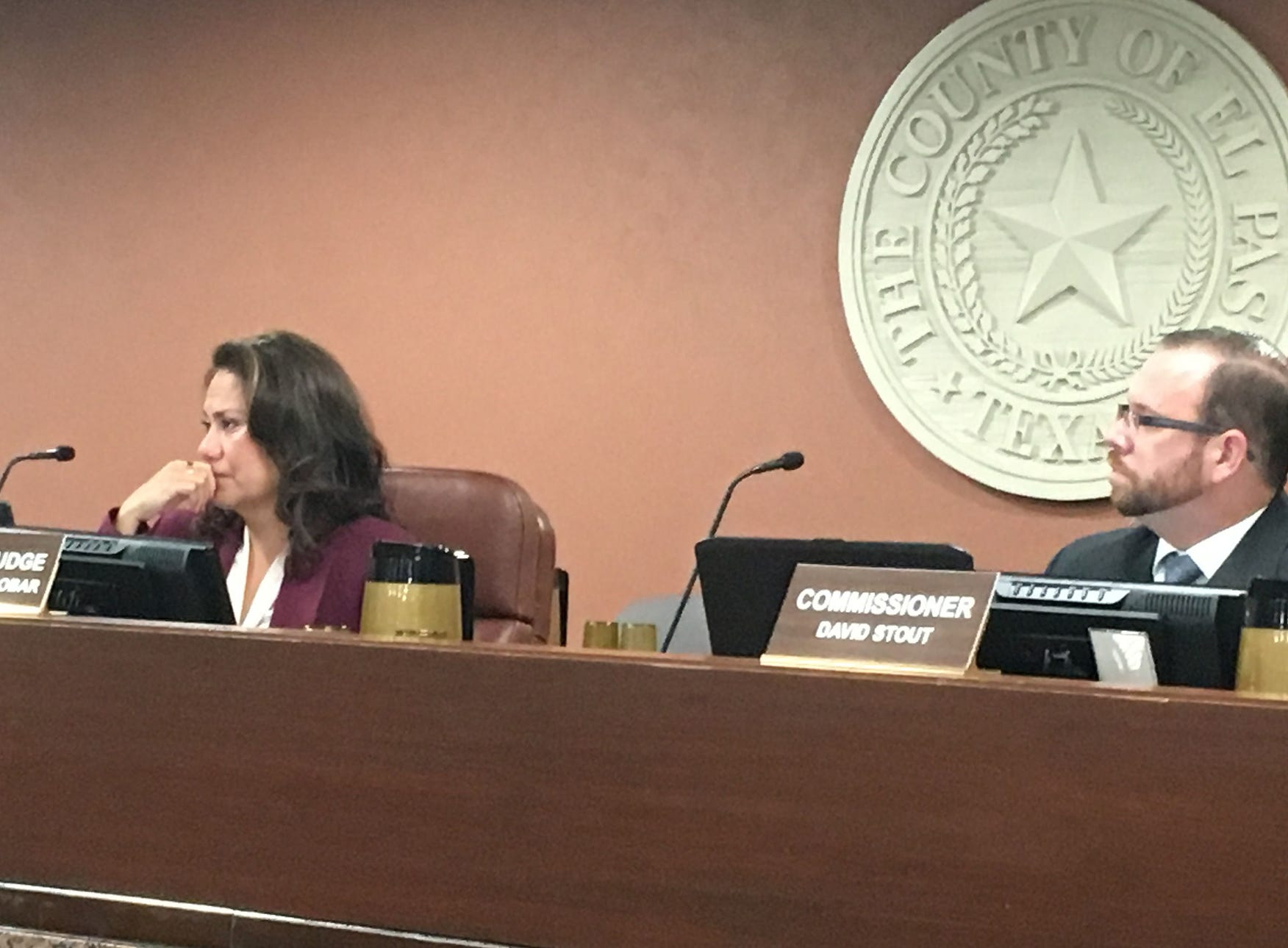 El Paso County Judge Veronica Escobar on Monday became teary-eyed talking about a possible replacement as she seeks a congressional seat.