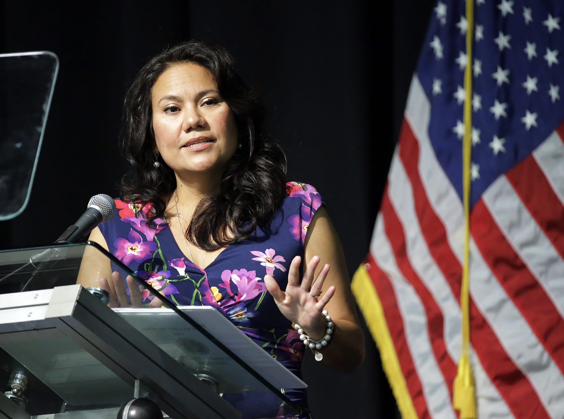 County Judge Veronica Escobar delivers her final State of the County address.