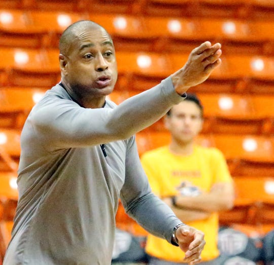 New UTEP head basketball coach Rodney Terry will coach his first game for the Miners Tuesday against UT Permian Basin in the Don Haskins Center.