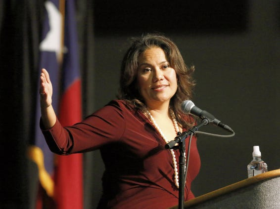 County Judge Veronica Escobar delivers the State of County address at the El Paso Convention Center.