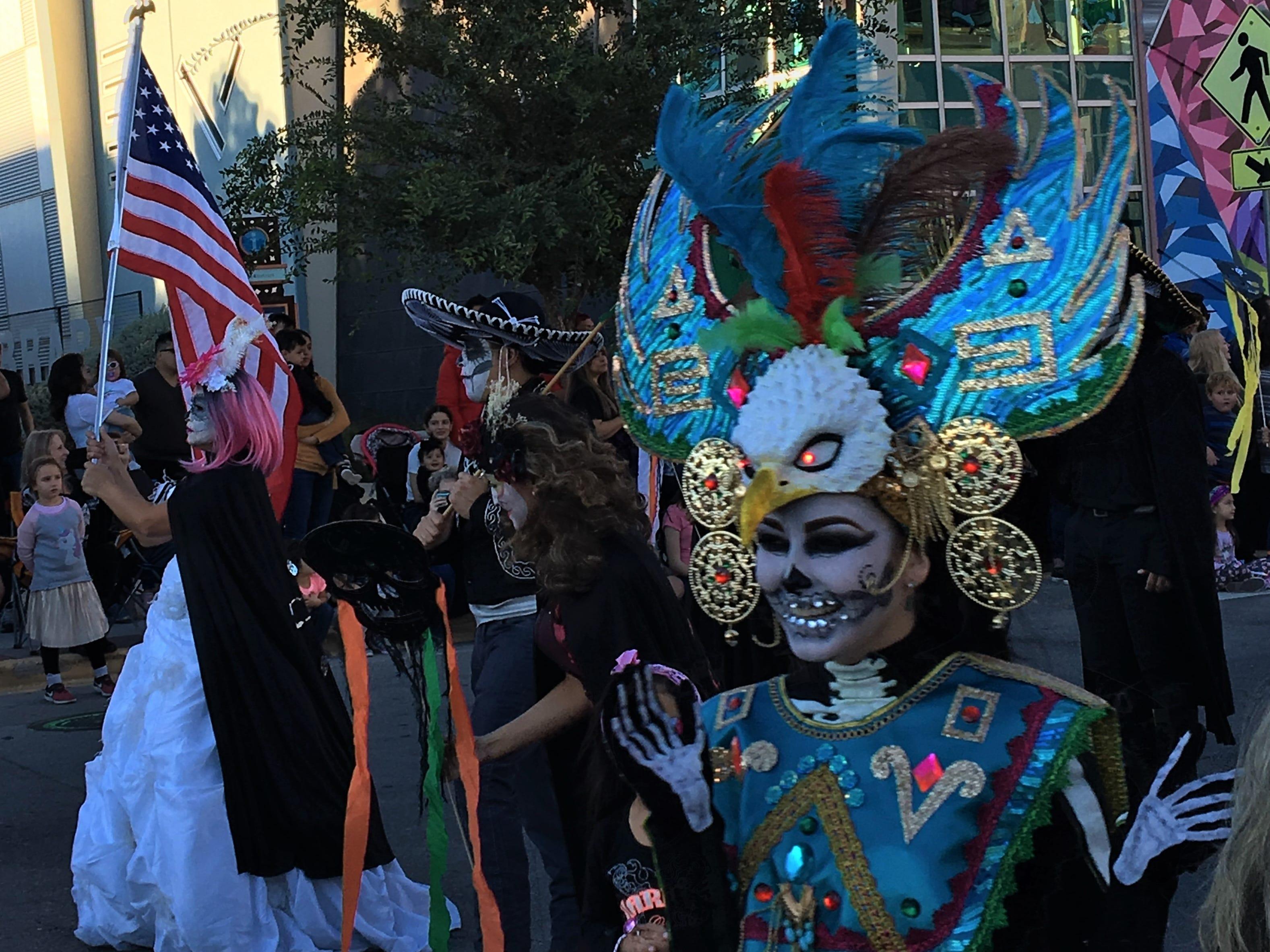 Colorful costumes were part of Dia de los Muertos 2018 festivities in Downtown El Paso.